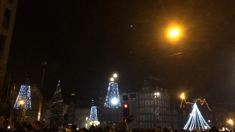 Амстердам, площадь Дам. Новый 2015 год (1)