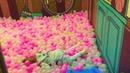 Playground Катя купается в шариках Kate is swimming in balls