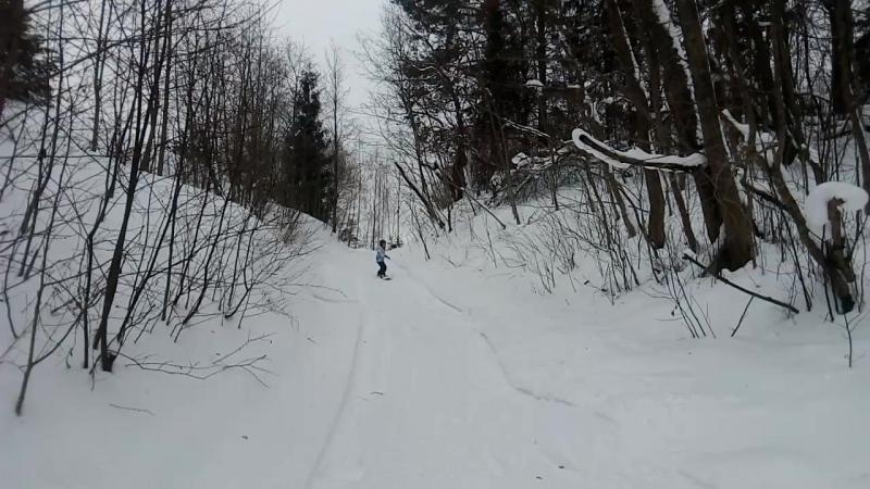 Первая тренировка Кати (9 лет)_школа сноуборда SB69.PRO