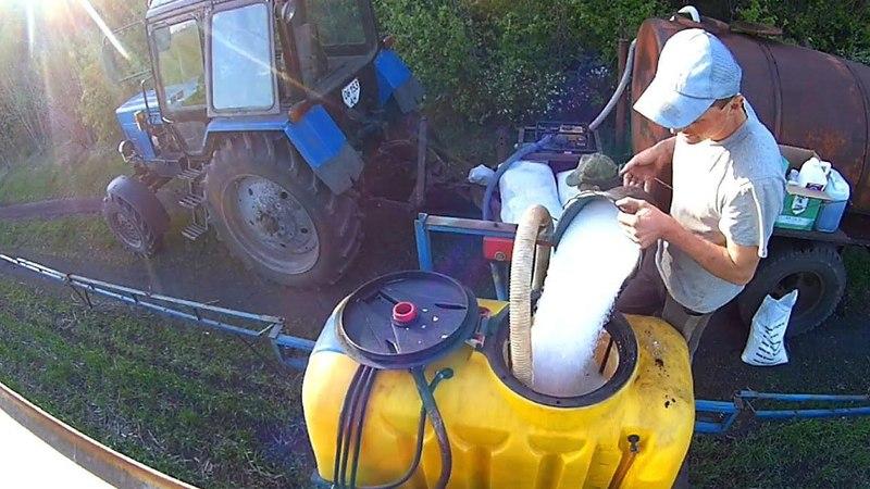 Опрыскивание 2018г. озимой пшеницы | Тест навигатора №3 СельхозТехника ТВ