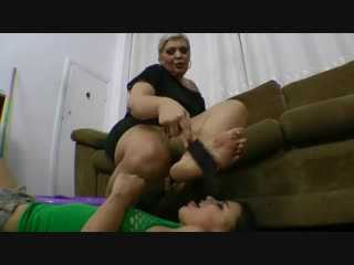 Thie best foot worship video ever big tall powerful woman vs small girl