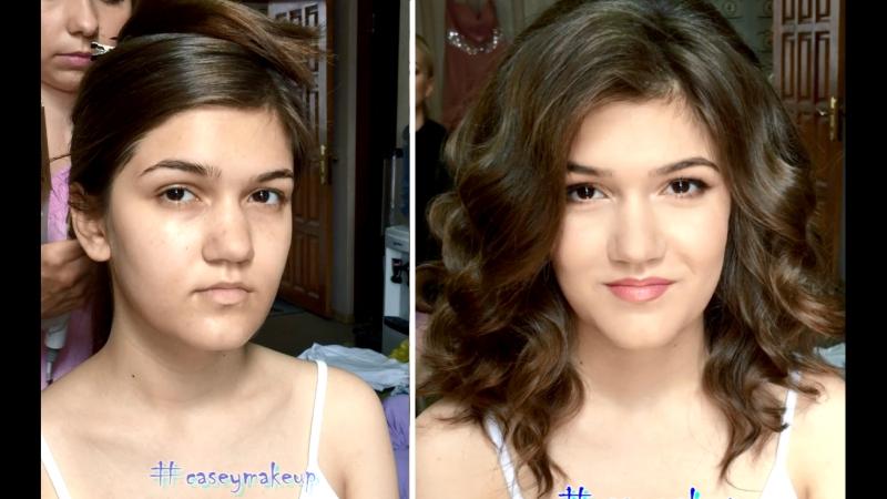Ксения Саватеева. Легкий макияж и пышные локоны