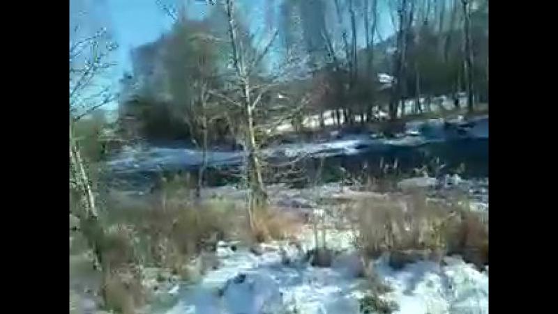 река Кора город Текели 2017г декабрь