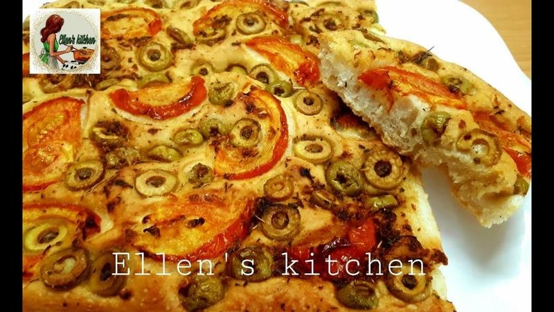 Очень вкусный Итальянский Хлеб Фокачча готовим дома Homemade Focaccia Bread Իտալական հաց