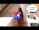 MacVille Adventures - BALLOONS OF THE WORLD - USA - Blowing and Popping Red, White and Blue Balloons