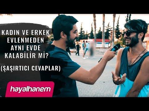 Kadın ve Erkek Evlenmeden Aynı Evde Kalabilir mi (Şaşırtıcı Cevaplar -Sokak Röportajı)- Onur Kaplan