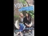 Shay Mitchell & Elizabeth Lail on YOU's Instagram Story (28 августа 2018)
