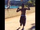 Justin dancing to remix of 'All About That Bass' by Meghan Trainor in LA