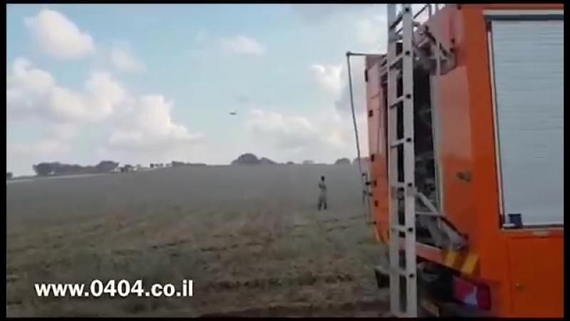 Un feu près de la batterie du dom de fer à cause d'un ballon brûlant tiré depuis Gaza contre l'entité terroriste sioniste