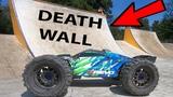 BROKE IT!! E-REVO 2.0 vs Death Wall - EPIC Skatepark Bash Traxxas HPI FTX