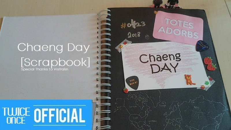 TWICE Run Away with Chaeyoung Once's Gift [Scrapbook] HAPPYCHAEYOUNGDAY