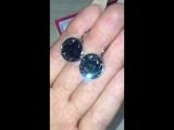 Шикарные чёрные Сваровски!цена 1500