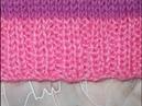 Резинка спицами горизонтальная 2Лх2И - knitting gum