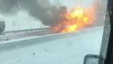 Дикая авария со взрывом н трассе M4