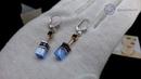 👍👉 Серьги Coeur de Lion GeoCUBE®, Light Blue, 4016/20-0720. Элитная бижутерия из Германии