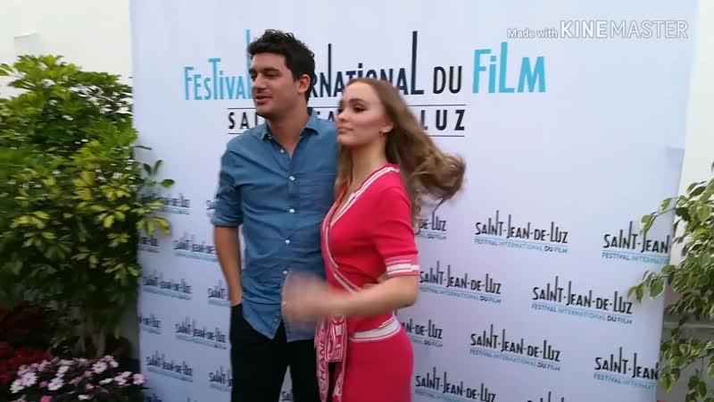Лили-Роуз Депп и Венсан Мариетт на кинофестивале в Сен-Жан-де-Люз