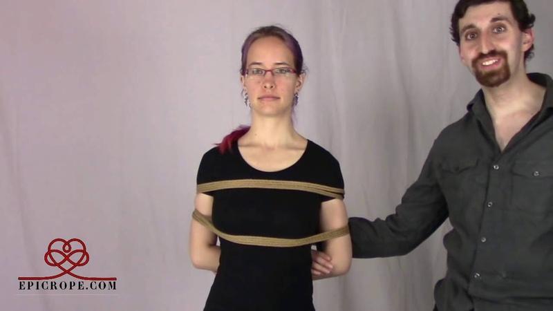 Beginner Rope Bondage Tutorial 75% of all Shibari Bondage a k a The Ladder Tie