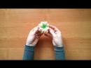 Весенний цветок канзаши мастер класс_ Kanzashi _ DIY _ Tutorial