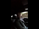 Kat Dom and Luke_singing in the car