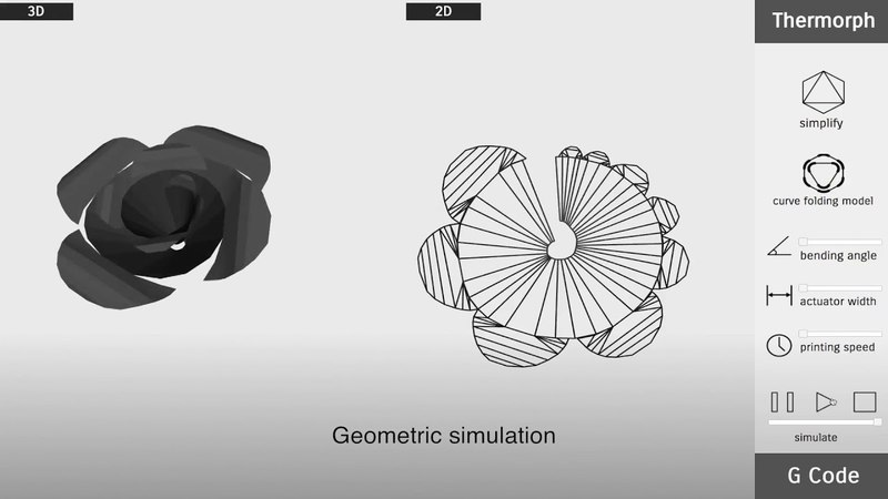 Thermorph Democratizing 4D Printing of Self-Folding Materials and Interfaces