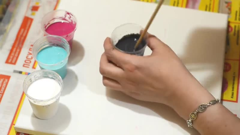 Самый простой способ акриловой заливки. Подробно .pouring acrylic