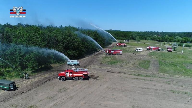 В Республике прошли тактико-специальные учения по тушению лесных пожаров