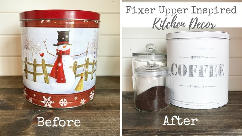 Fixer Upper Inspired Kitchen Decor | Vintage Coffee Tin