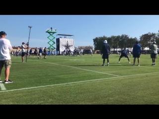 Rod rushing #CowboysCamp Day 5