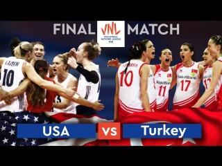 Final vnl 2018. usa vs turkey.