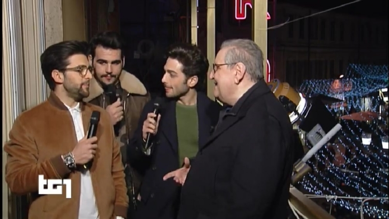 Il Volo - Intervista TG1 (Sanremo 07/02/18)