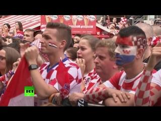 Болельщики в Хорватии и во Франции смотрят финал ЧМ-2018 — LIVE