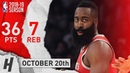 James Harden CLUTCH Highlights Rockets vs Lakers 2018.10.20 - 36 Points, 7 Reb