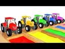 Учим Цвета - Мультик Для Малышей Про Большой Грузовик и Цветные Трактора Развивающий Мультфильм