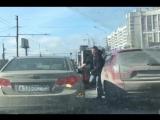 Разборки привели к аварии на Зыряновской