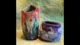 Wet Felted Wool Bowl