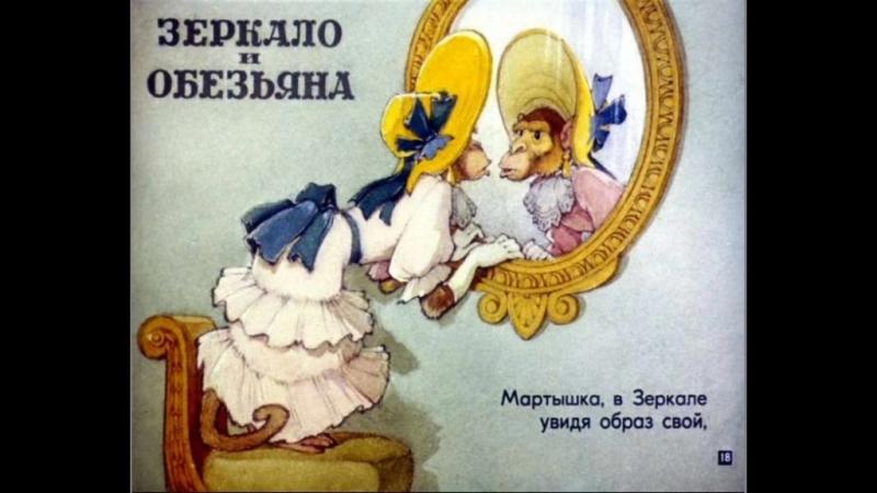 Крылов И.А. Зеркало и Обезьяна