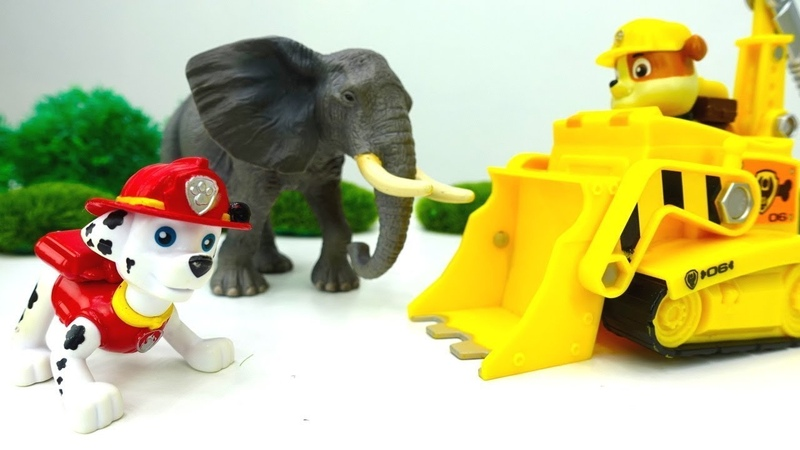 Çizgi film oyuncak Paw Patrol hayvanat bahçesi yapıyor