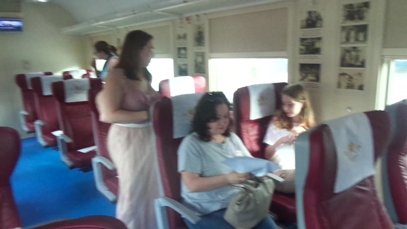 Туристический поезд «Императорский маршрут» выполнил свой первый рейс
