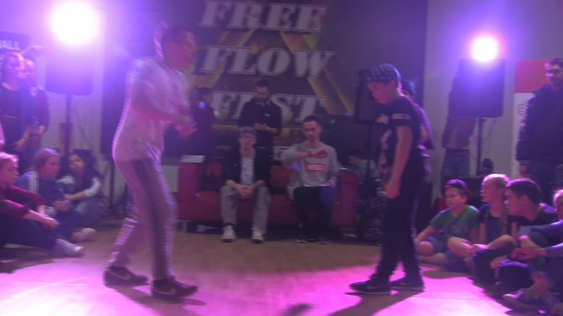 Free Flow Fest 2017 Hip Hop begginers 1 8 Храмцов vs Coach Олегыч