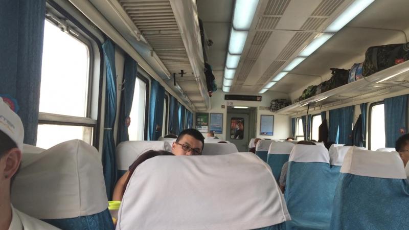Train from Turpan to Urumqi China