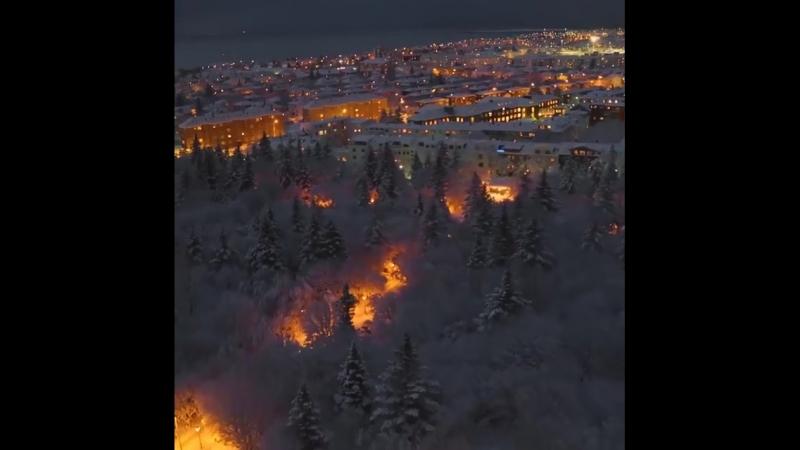 Город Рейкьявик в Исландии