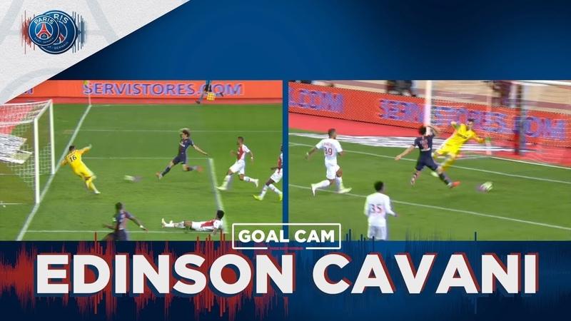 GOAL CAM   Every Angles   EDINSON CAVANI vs Monaco