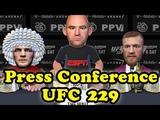 Khabib Nurmagomedov VS Conor McGregor UFC 229 press conference khabib nurmagomedov vs conor mcgregor ufc 229 press conference