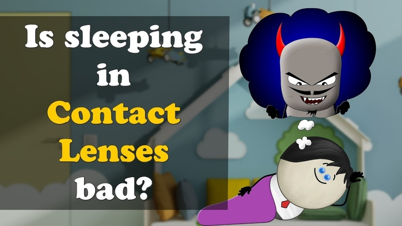 Is sleeping in Contact Lenses bad? | aumsum kids education