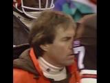 Bill Belichick's first ever playoff win