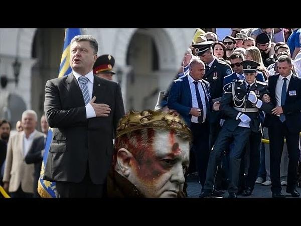 Два солдата потеряли сознание во время речи Порошенко на параде в честь дня независимости