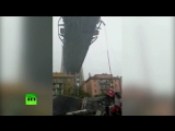Видеокадры обрушения моста в Генуе, где погибли 11 человек