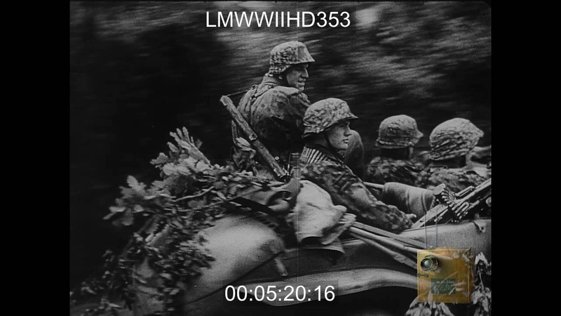 DIE DEUTSCHE WOCHENSCHAU 1944 REEL 2 PART 1 SHOWS GER TROOPS ON TRANSPORTS IN T LMWWIIHD353