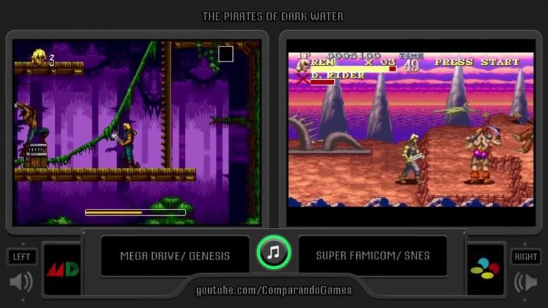 Пираты темной воды The Pirates of Dark Water (Sega Genesis vs Snes)