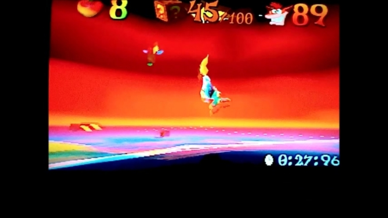 Crash Bandicoot 3:Warped (NTSC-J).Ski Crazed Time Trial A little madness from Coco)